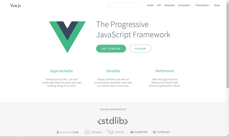 Vue.js Homepage