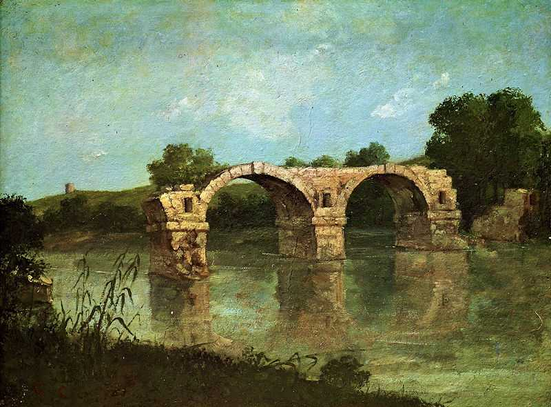 'The Pont Ambroix Languedoc' by Gustave Courbet, 1857, Honolulu Museum of Art