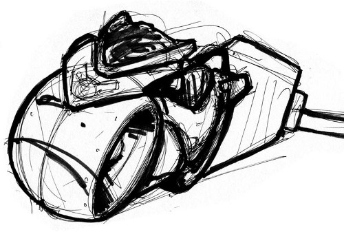 Tron Light Cycle Sketch
