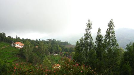 View of valley from flat