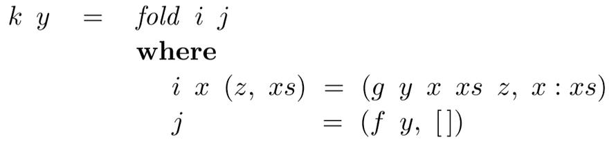 Folded recursion
