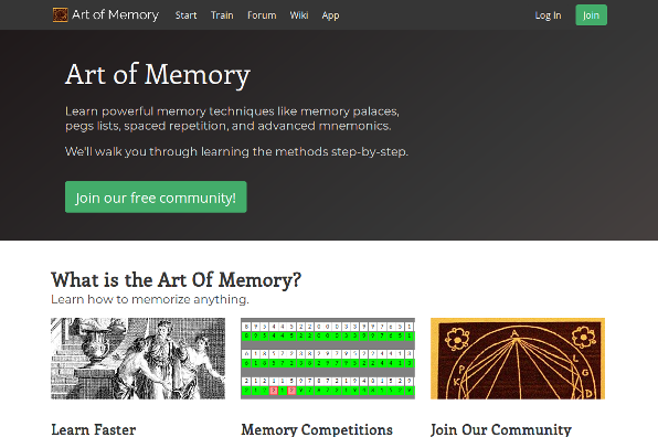 Screenshot of Art of Memory