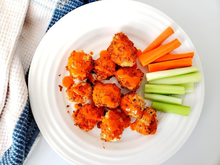 Plate of Buffalo Cauliflower Wings