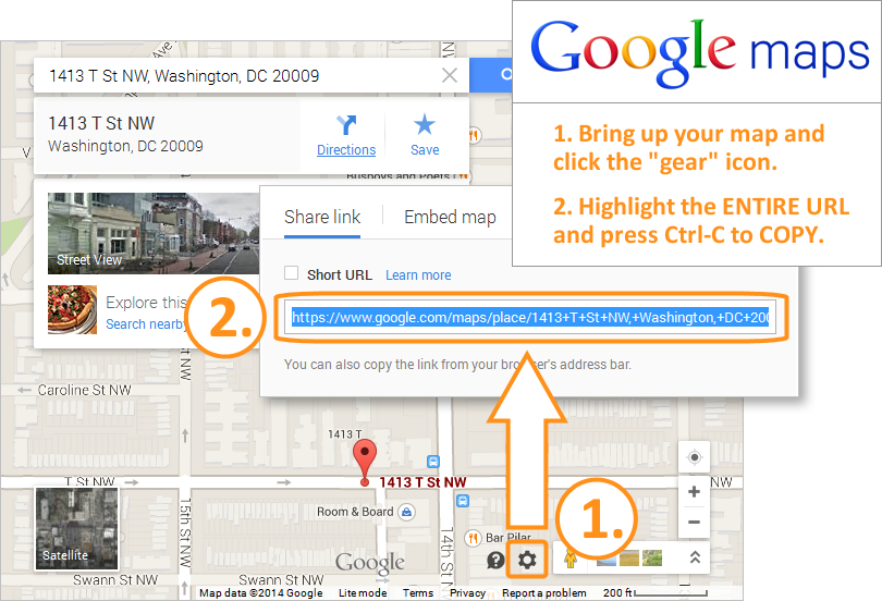 Email Signature - Get Google Map URL