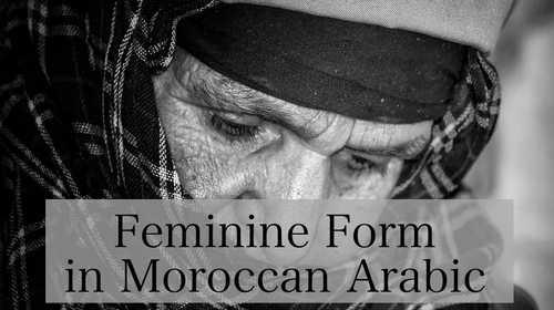 Feminine Form in Moroccan Arabic