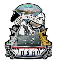 USS IDAHO Crest