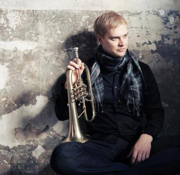 Martti Vesala with his trumpet