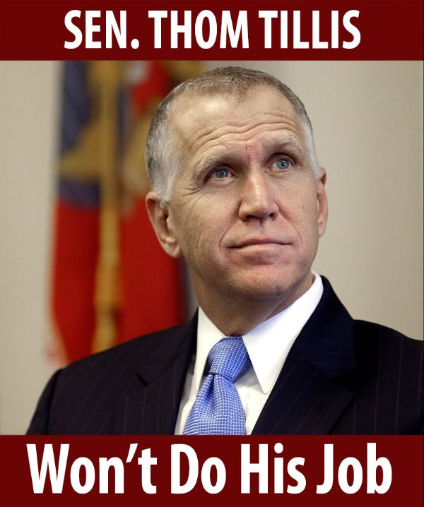 Senator Tillis won't do his job!