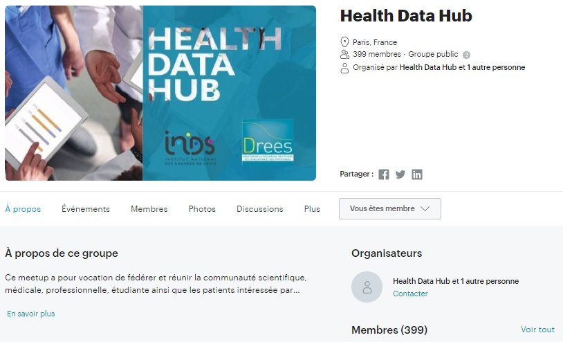 Groupe Meetup Health Data Hub
