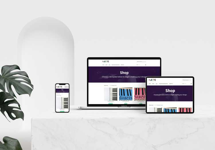 web design, development, and ecommerce for ukeys piano small business image