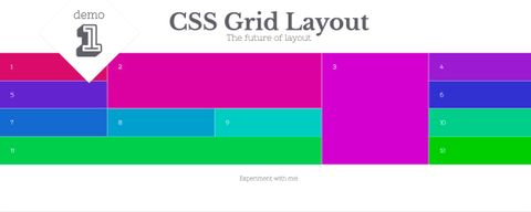 CSS Grid example layout