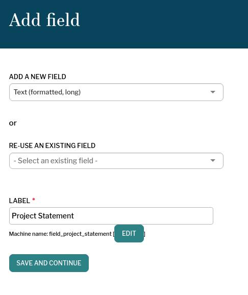 Add a text field