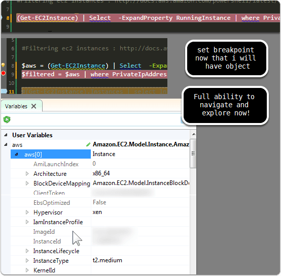 Diving into variable explorer