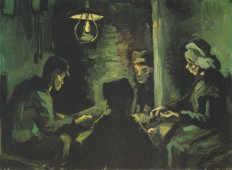 A pre study of the Potato Eaters by Van Gogh, 1885, Van Gogh Museum, Amsterdam