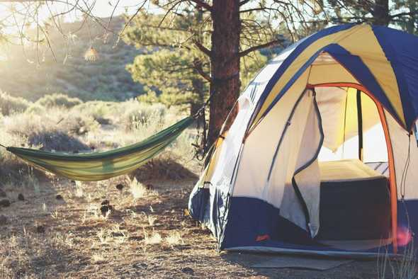 Campingplek zonder teken