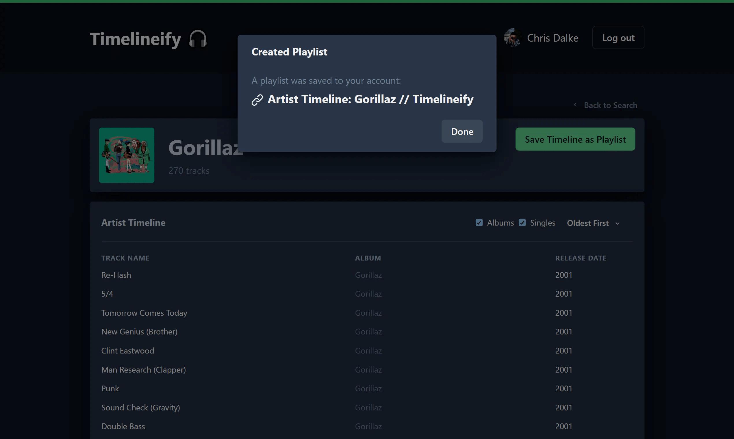 Timelineify - Artist View 2