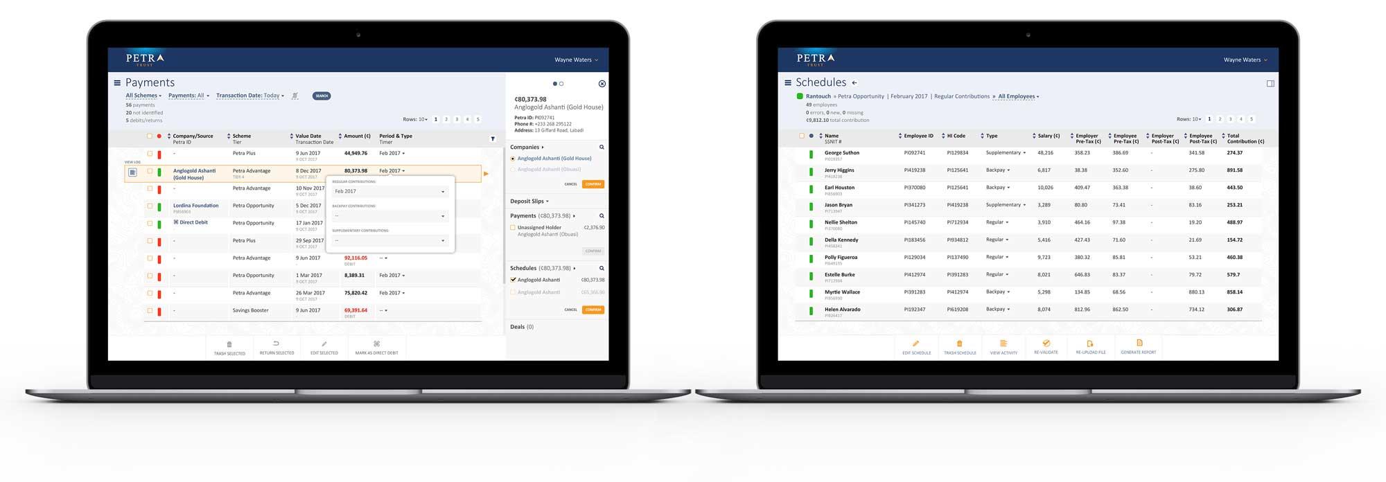 Petra Trust Transfer Agency app
