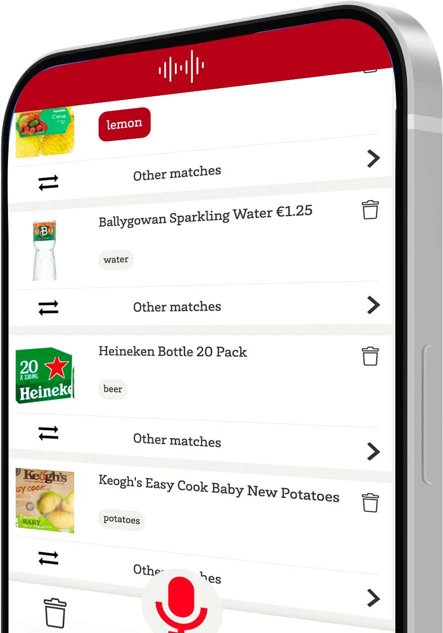 Speechly demo for voice-enabled grocery shopping