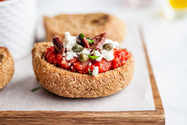 Dakos – A Fantastic Greek Bruschetta