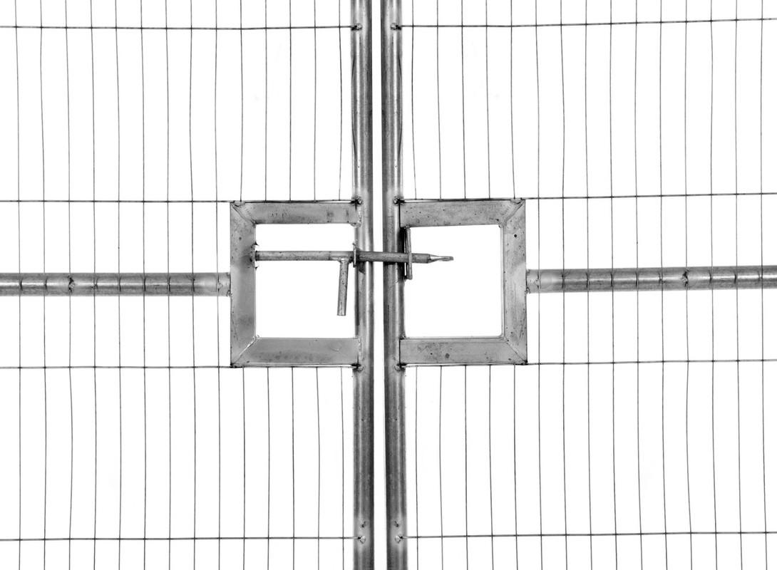 Vehicle gate lock close-up