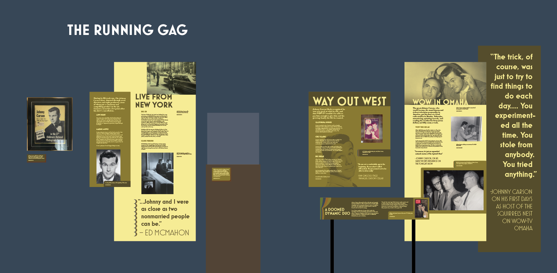 museum exhibit graphic design sample