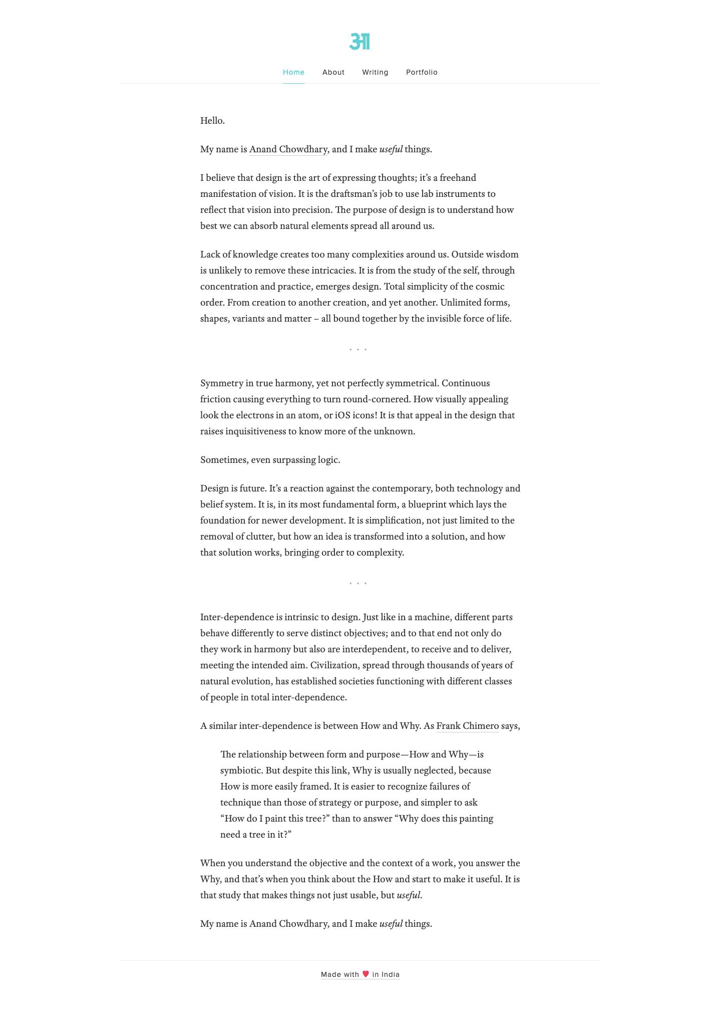 Screenshot of Academia homepage