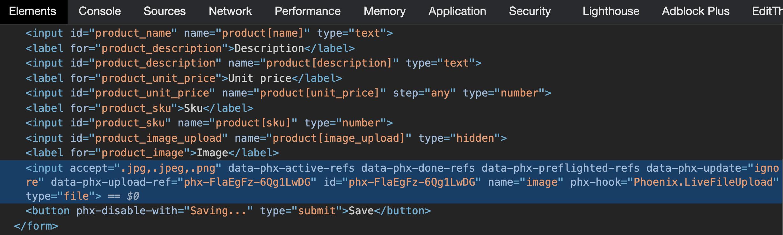 file upload html
