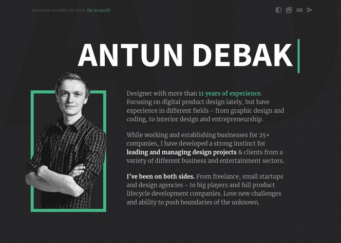 Antun Debak's Portfolio screenshot