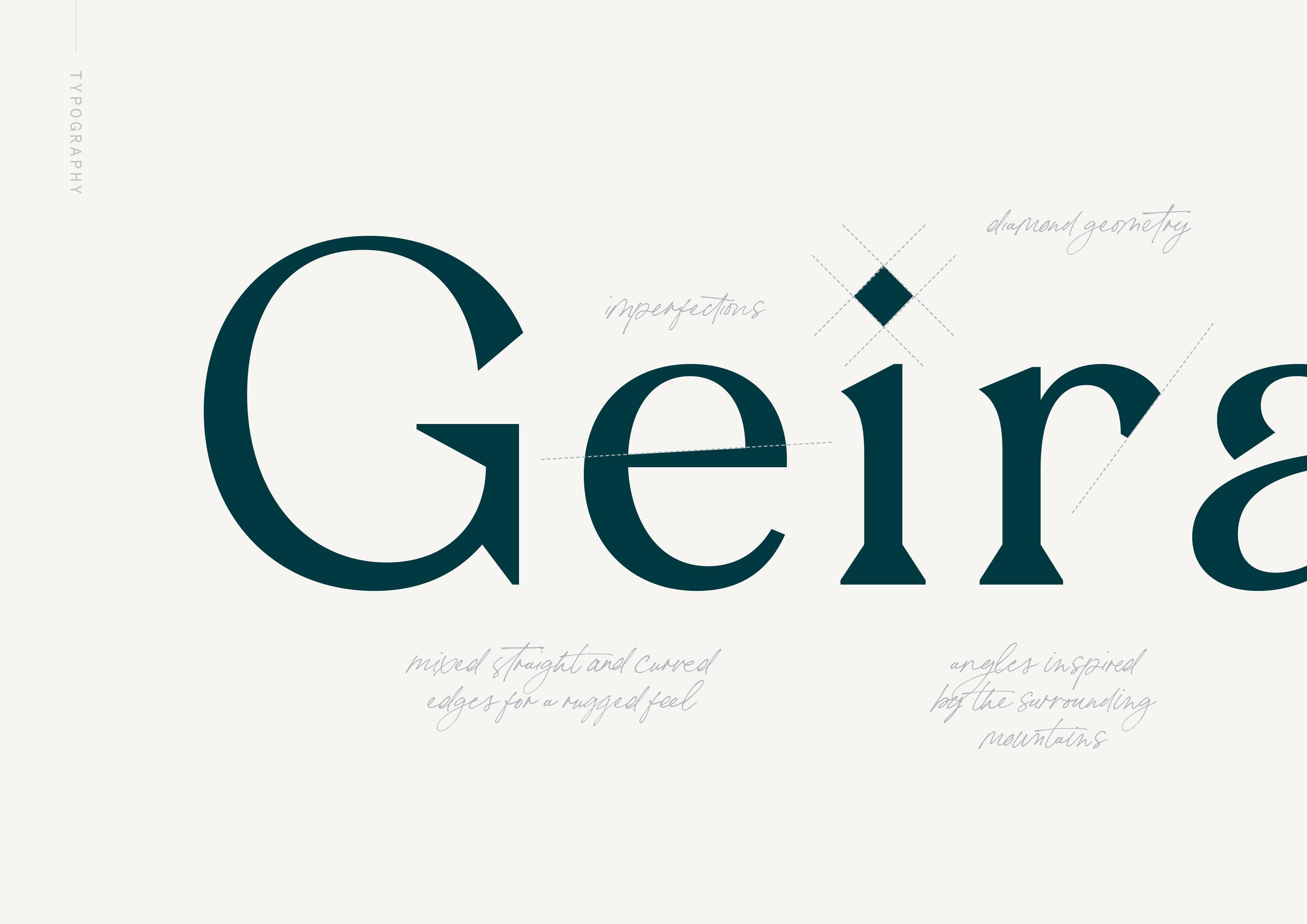 Typography design by Jack Watkins, for Geirangerfjord hotel, BREEN