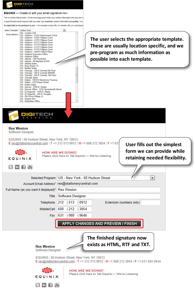 email signature portal