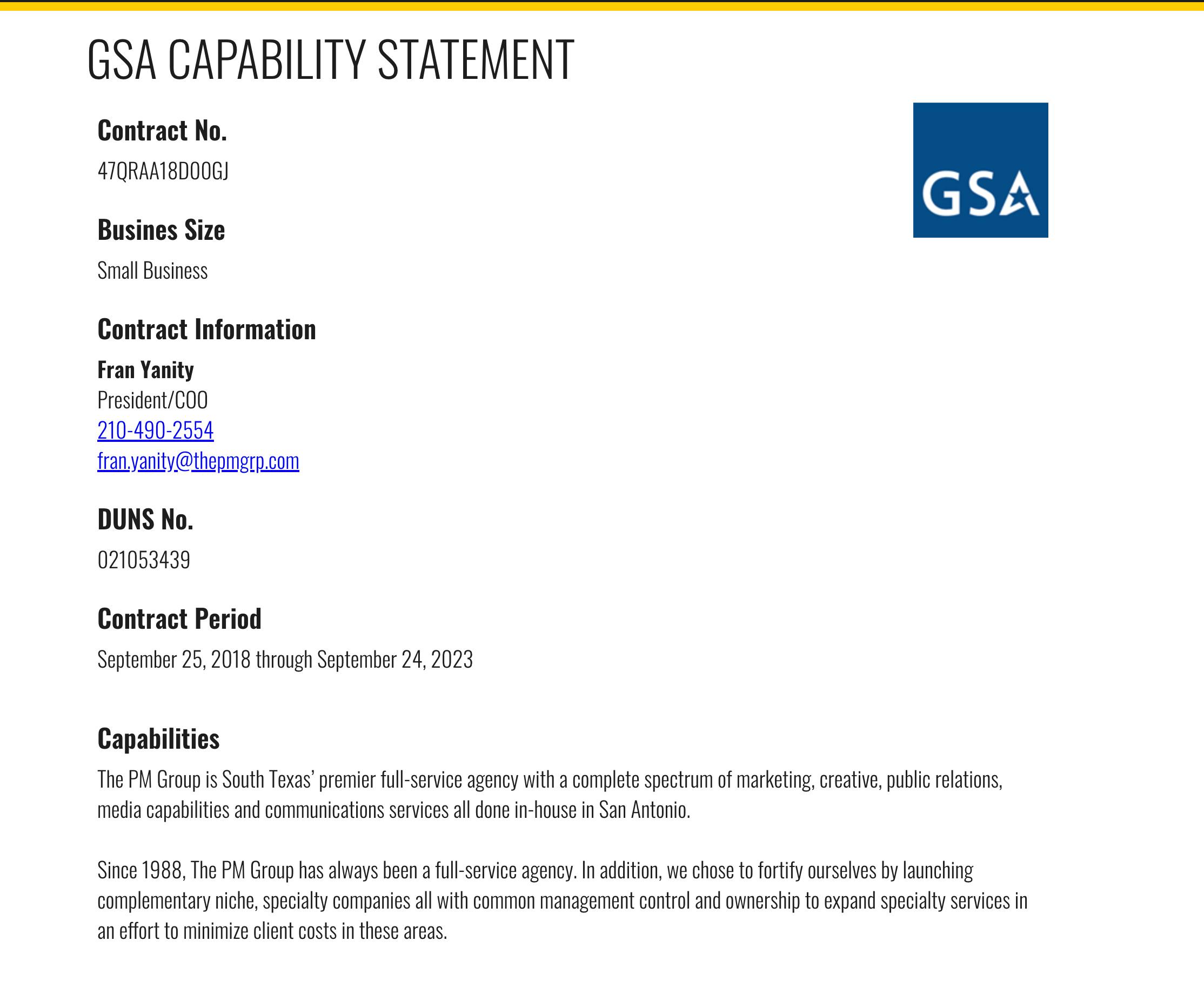 PMG GSA