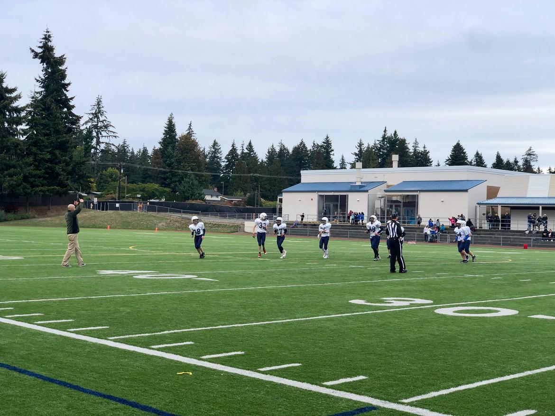 On the field in Everett