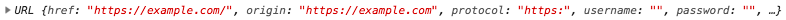 The output of console.log(myURL)