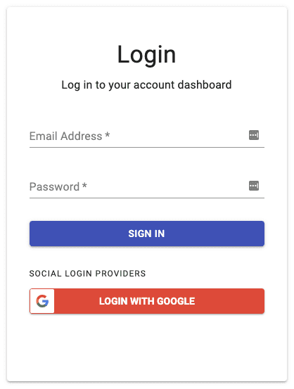Google OAuth Login Button