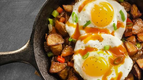 Sunny Side Eggs & Breakfast Potatoes