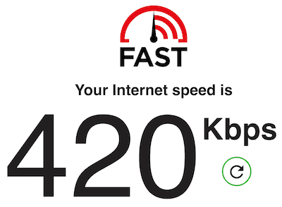 Your internet speed is 420 Kbps