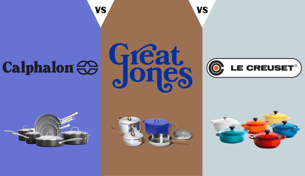 Are You A Pot Shot?, Best Non-Toxic Cookware Sets:, Calphalon vs. Great Jones vs. Le Creuset, (2020 Review) cover image