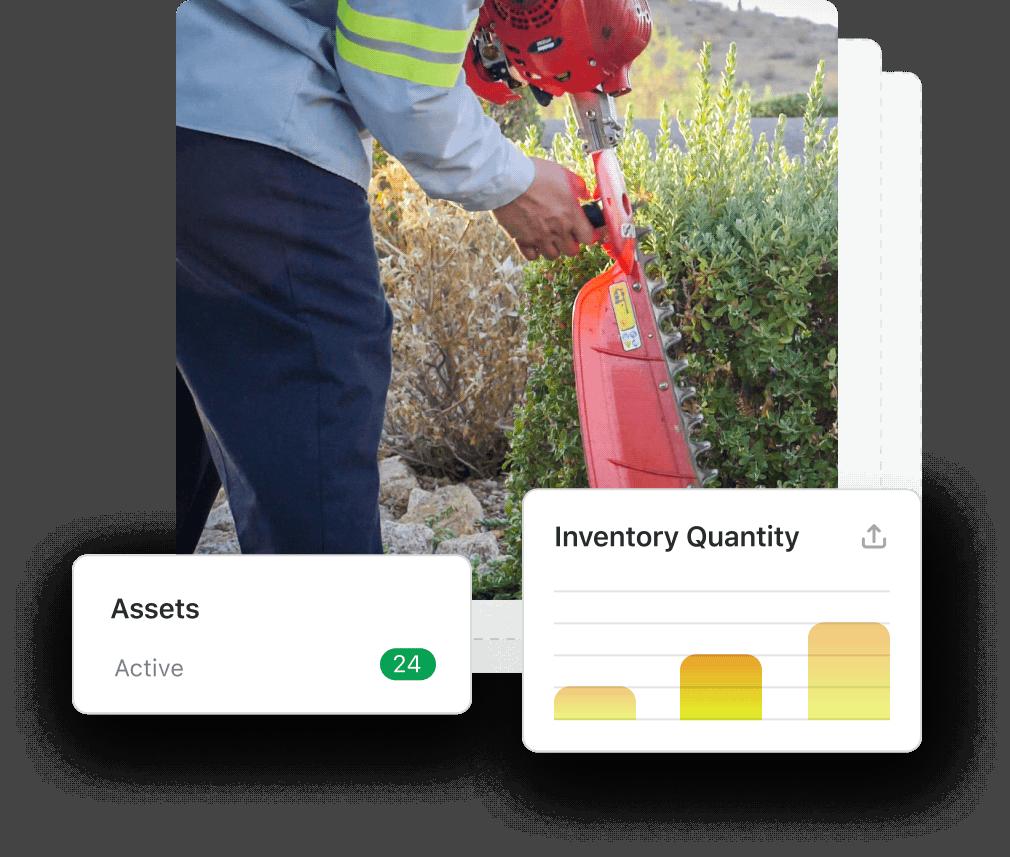 Landscape equipment header