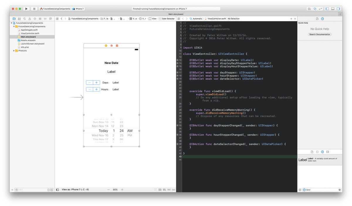 Storyboard with Starting Code