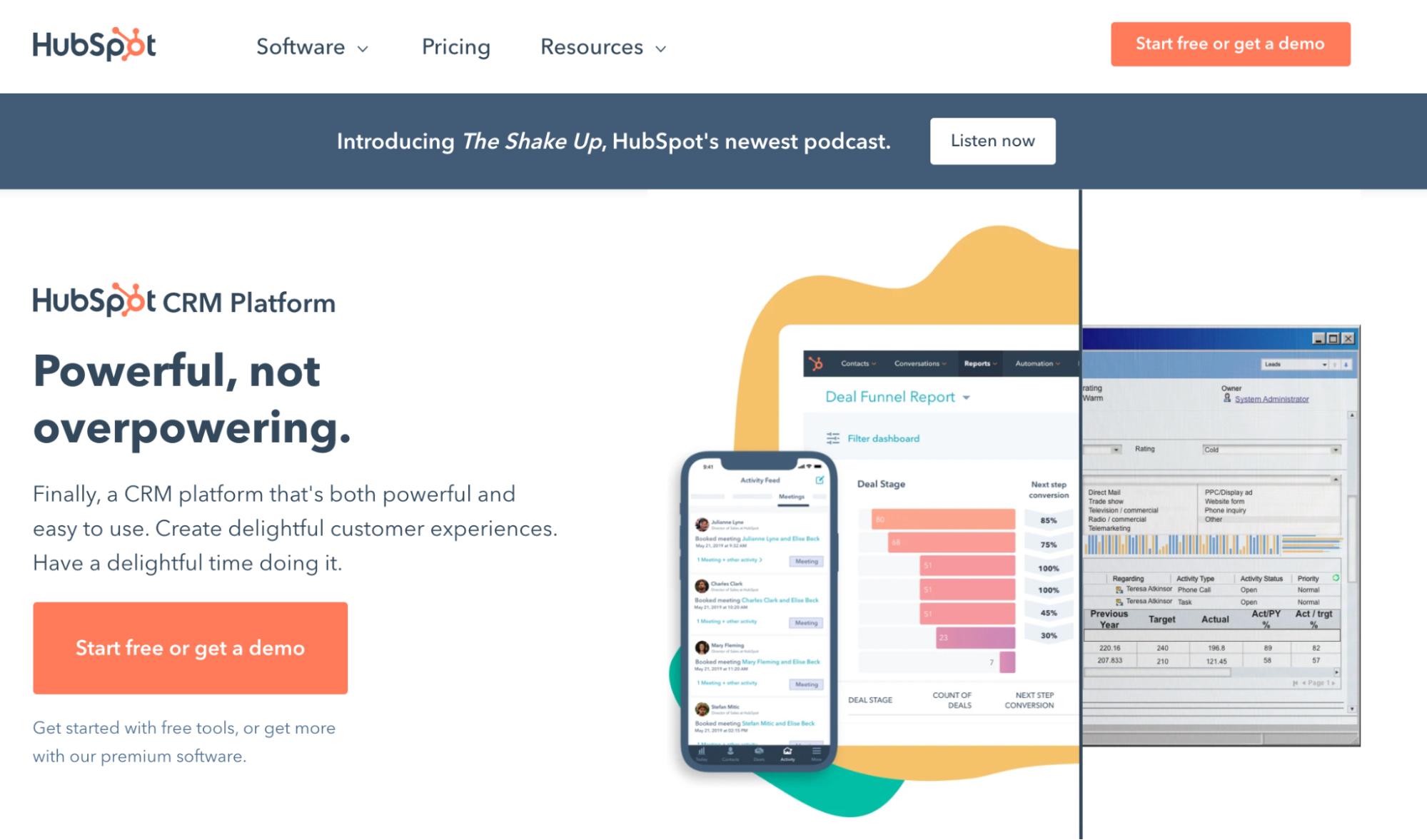 SaaS Marketing Automation Tools: HubSpot Screenshot