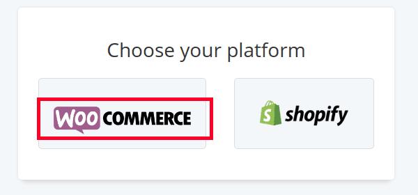 Choose your store's platform