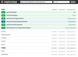 Exceptionless API