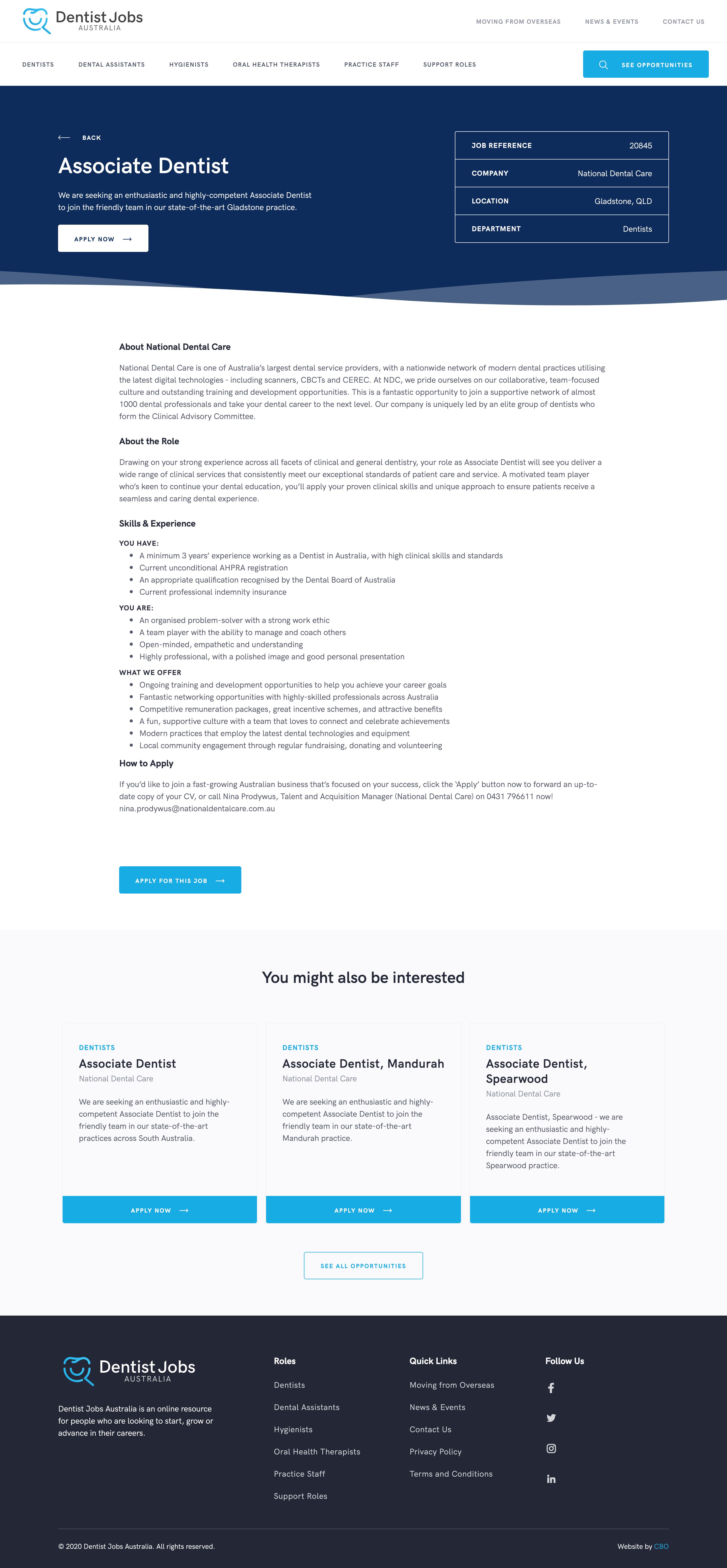 Job Post Page
