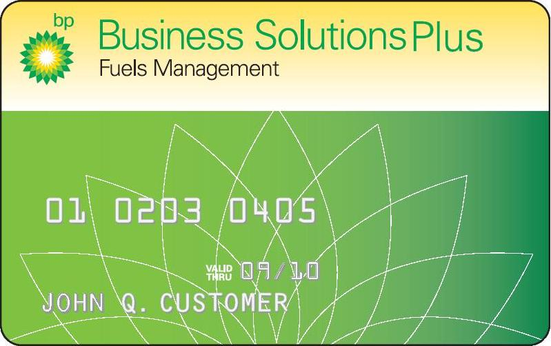 Bp business solutions plus card
