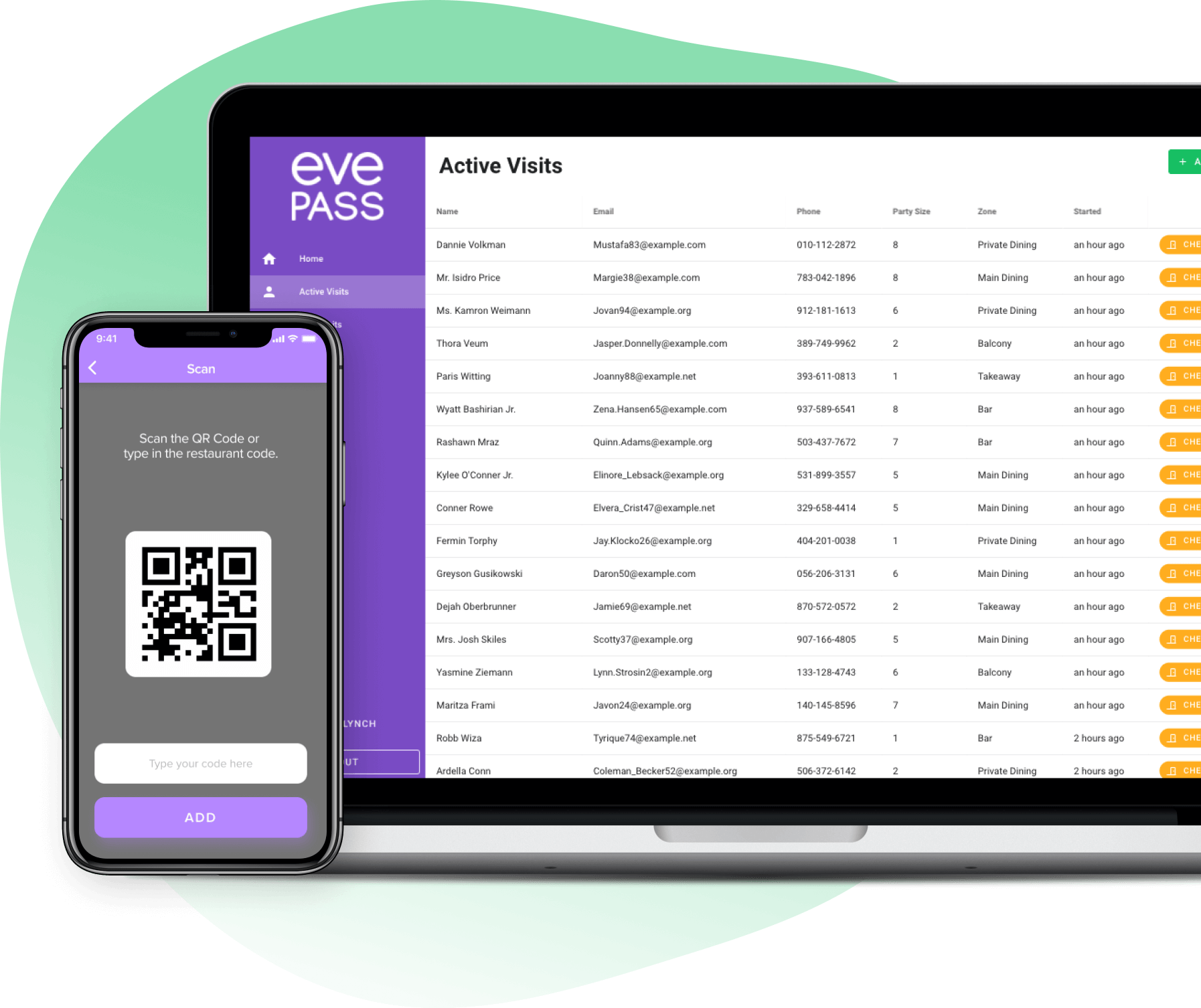 Easy and secure check-ins