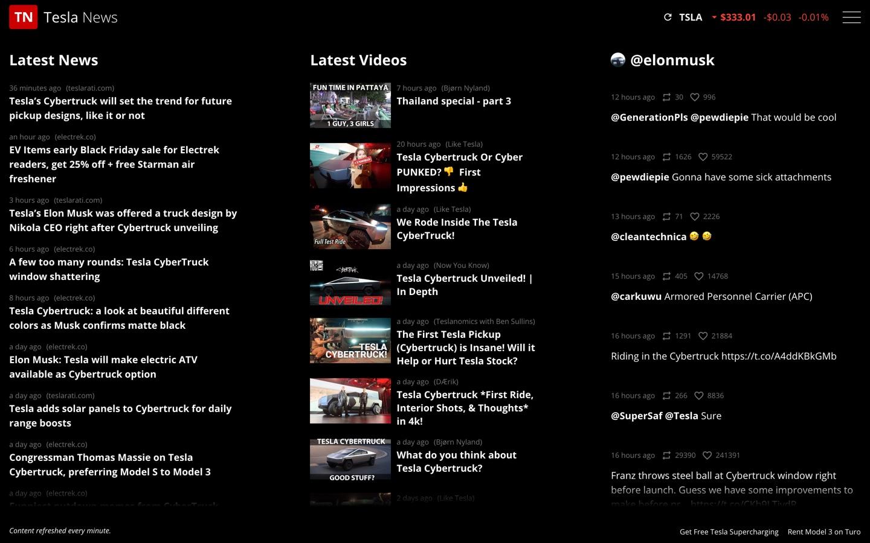 Unofficial Tesla News