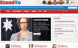Stand TO Website Screenshot