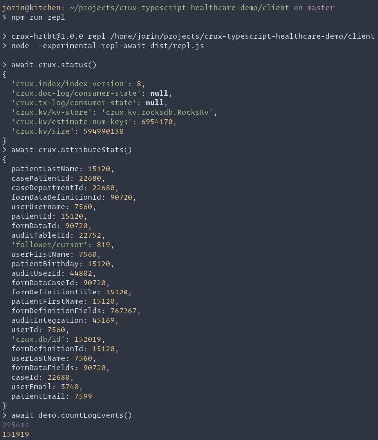 REPL demo screenshot