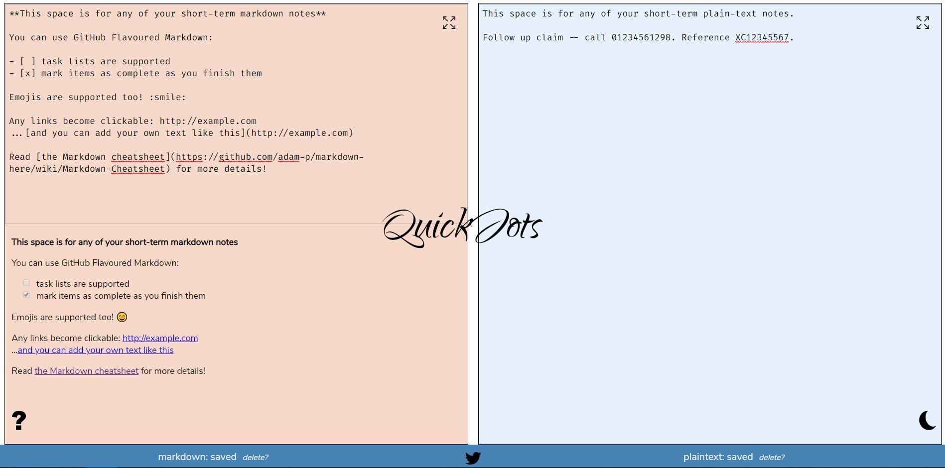 QuickJots (PWA)