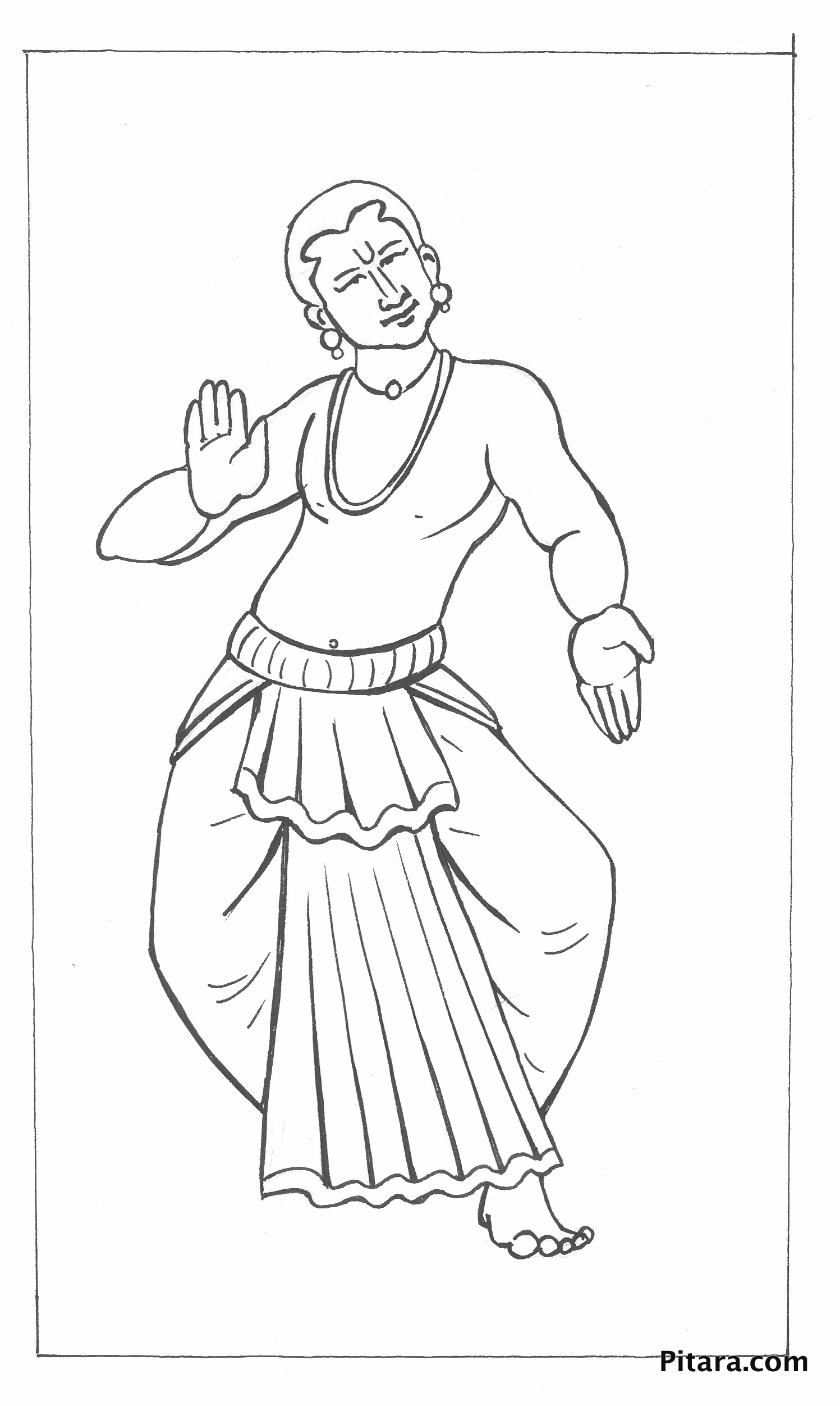 Kuchipudi dancer
